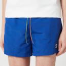 PS Paul Smith Men's Zebra Swim Shorts - Blue