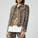 Ganni Women's Print Denim Jacket - Leopard