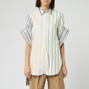 JW Anderson Women's Parasol Round Hem Exaggerated Sleeve Shirt - Multi