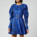 ROTATE Birger Christensen Women's Tara Taffetta Mini Dress - Dazzling Blue