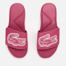 Lacoste Kids' L.30 Strap 120 Slide Sandals - Dark Pink/White