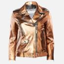 Golden Goose Deluxe Brand Women's Chiodo Dakota Biker Jacket - Distressed Bronze