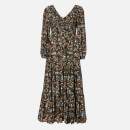 RIXO Women's Brooke Dress - Klimt Wave Stripe