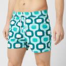 Frescobol Carioca Men's Large Ipanema Sports Swim Shorts - Khaki/Pistachio