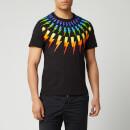 Neil Barrett Men's Fairisle Thunderbolt T-Shirt - Black/Multi