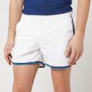 Orlebar Brown Men's Setter Swim Shorts - White/Aquamarine
