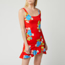 De La Vali Women's Christbel Mini Dress - Red Floral