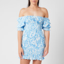Faithfull the Brand Women's Magnolia Mini Dress - Roos Tie Dye Blue
