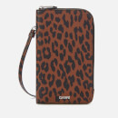 Ganni Women's Leopard Print Phone Bag - Toffee