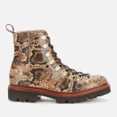Grenson Women's Nanette Leather Hiking Style Boots - Snake
