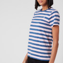 Polo Ralph Lauren Women's Stripe Short Sleeve T-Shirt - Garden Pink/ Earth Blue