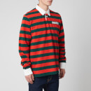Dsquared2 Men's Slouch Fit Striped Rugby Shirt - Orange/Green