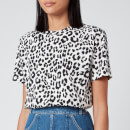 KENZO Women's Loose Fit T-Shirt All Over - Leopard