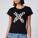 KENZO Women's Small Fit T-Shirt KENZO Sport - Black