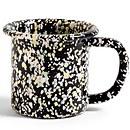 HAY Enamel Mug - Black Sprinkle