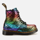 Dr. Martens Toddlers' 1460 Metallic Suede Lace-Up Boots - Black/Rainbow