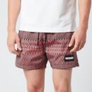 Missoni Men's Jacquard Box Logo Drawcord Swim Shorts - Red