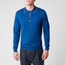 Missoni Men's Outline Detail Long Sleeve Polo Shirt - Classic Blue