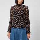 See By Chloé Women's Print Blouse - Black
