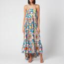 Simon Miller Women's Pumpa Layered Tank Dress - Blue Floral Print