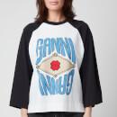 Ganni Women's Logo Cotton T-Shirt - Bright White