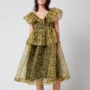 Ganni Women's Organza Dress - Flan