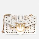 Pinko Women's Love Mini Icon New Studs Bag - Ice