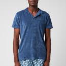 Orlebar Brown Men's Terry Towelling Polo Shirt - Lake Blue