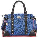 Paul's Boutique Darcy Tiger Print Bowler Bag - Blue