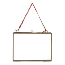 "Nkuku Kiko Antique Brass Glass Frame - Landscape 7 x 5"""