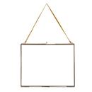 """Nkuku Extra Large Kiko Antique Brass Glass Frame - Landscape - 12 x 15"""""""
