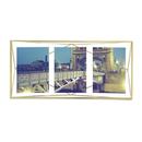 "Umbra Prisma Three Photo Frame - Matte Brass - 6 x 4"""