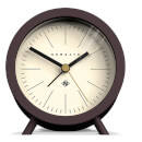 Newgate Fred Barrel Silent Alarm Clock - Chocolate Black