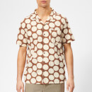 YMC Men's Malick Spot Print Shirt - Brown