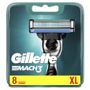 Gillette Mach 3 Razor Blades Refill, 8 Pack