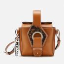 Ganni Women's Leather Cross Body Bag - Cognac