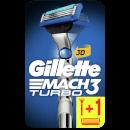 Mach3 Turbo 3D-Rasierer + 2 Rasierklingen
