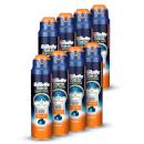 Gillette Fusion5 Proglide Sensitive 2-in-1 Active Sport Shaving Gel 170ml (8 Pack - 12 Month)