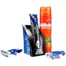 Gillette Geschenkset Barttrimmer Styler und Rasiergel