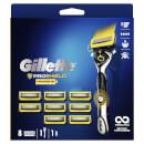 Gillette ProShield Power Value Pack - Razor + 8 Razor Blades