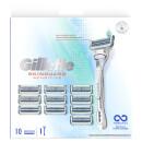 Gillette SkinGuard Sensitive Value Pack, Razor + 10 Razor Blades