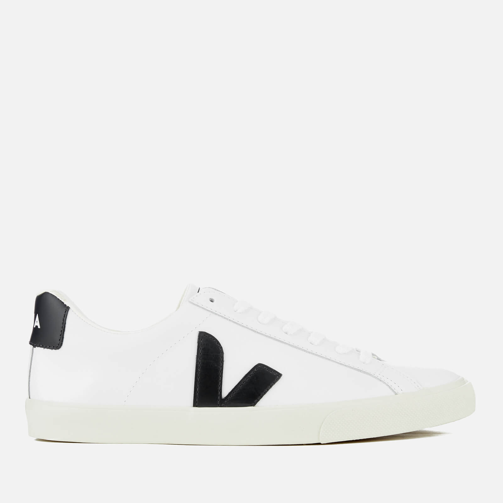 Poderoso Frente al mar limpiar  Veja Men's Esplar Leather Trainers - Extra White/Black | FREE UK Delivery |  Allsole
