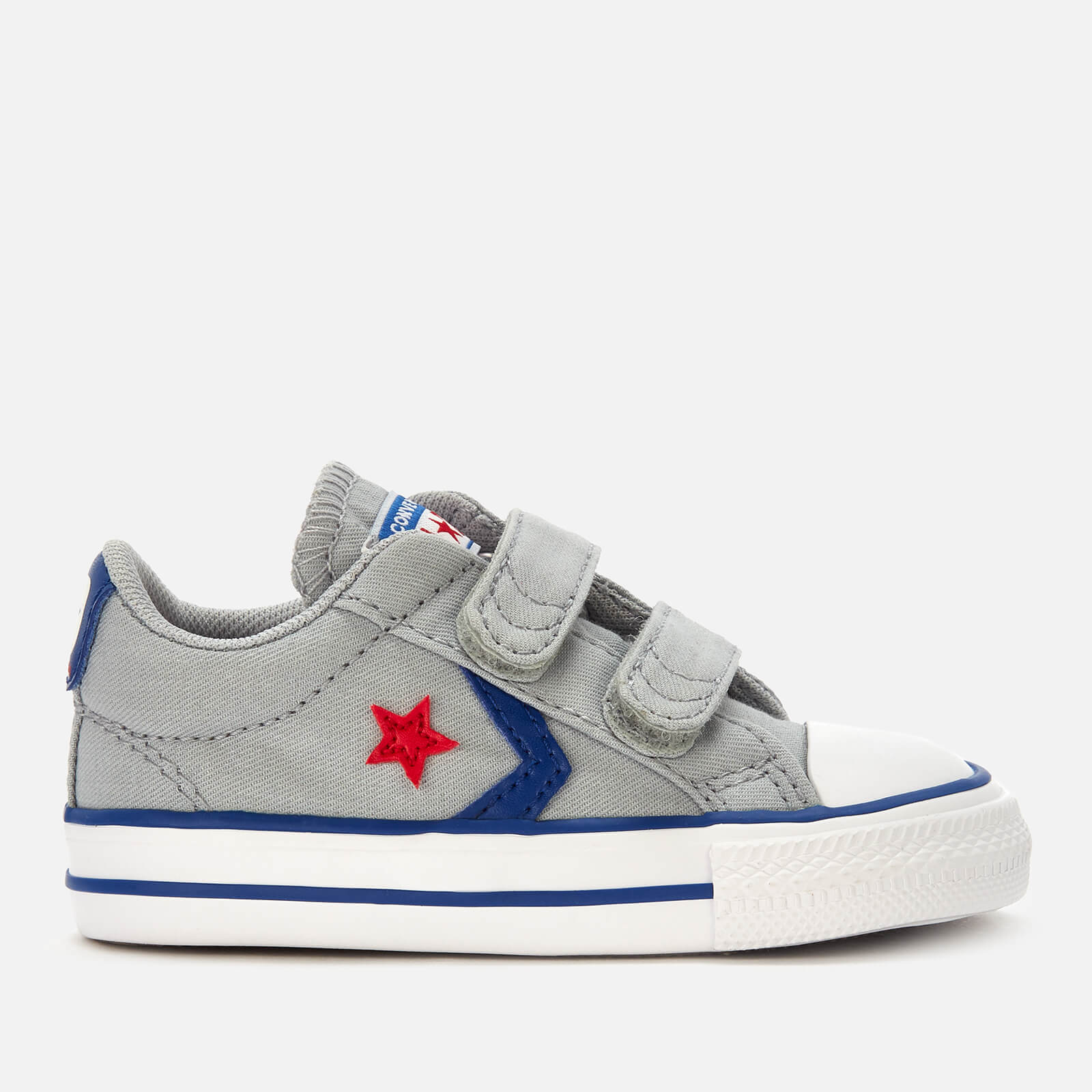 Converse Toddlers' Star Player 2 Velcro Ox Trainers - Wolf Grey ...