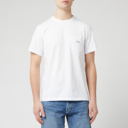 Maison Kitsune Men's Tricolor Fox Patch T-Shirt - White