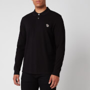 PS Paul Smith Men's Long Sleeve Zebra Polo Shirt - Black