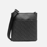 Armani Exchange Men's All Over Print Cross Body Bag - Black