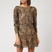 RIXO Women's Clarisse Leopard Burnout Dress - Multi
