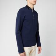 Maison Kitsuné Men's Technical Zipped Collar Pullover - Dark Navy