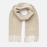 Vivienne Westwood Women's Wool Embroidered Scarf - Natural