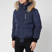 Mackage Men's Nathan Fur Down Jacket - Navy